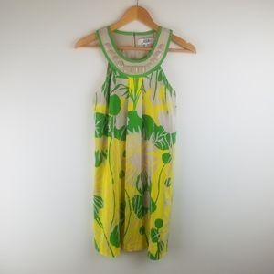 Tibi Floral Sleeveless Silk Sheath Dress 0